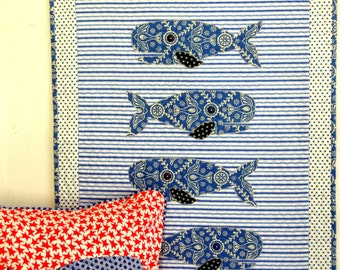 Whale Quilt and Pillowcover Pattern: Nantucket Bound