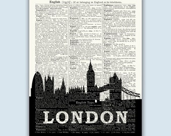 London Wall Decor, London Art Print, London Skyline Print, London Poster, London Decor, London Wall Art, London Home Decor, SKU L10