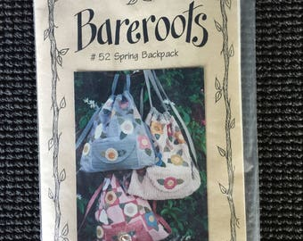 Bareroots Spring Backpack Sewing Pattern Flowers Floral UNCUT