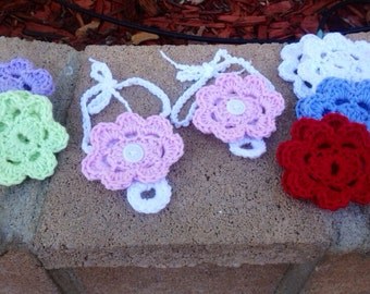 Barefoot Sandals With Interchangeable Flowers Crochet