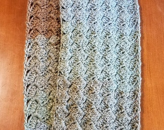 Neutral Tessellated Infinity Scarf