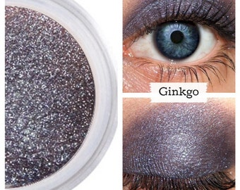 Purple Gray Shadow, GINKGO Mineral Eye Color, Eyeshadow Byzantium, Blue Purple Eye, Vegan Eyeshadow, Cruelty Free Beauty, Natural Eyeshadow