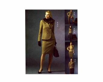 Misses Jacket Collar Skirt Pants McCalls 4931 Sewing Pattern Size 6 - 8 - 10 - 12 UNCUT