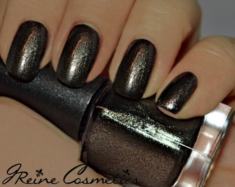 Gunpowder & Lead - Black Metallic Nail Polish