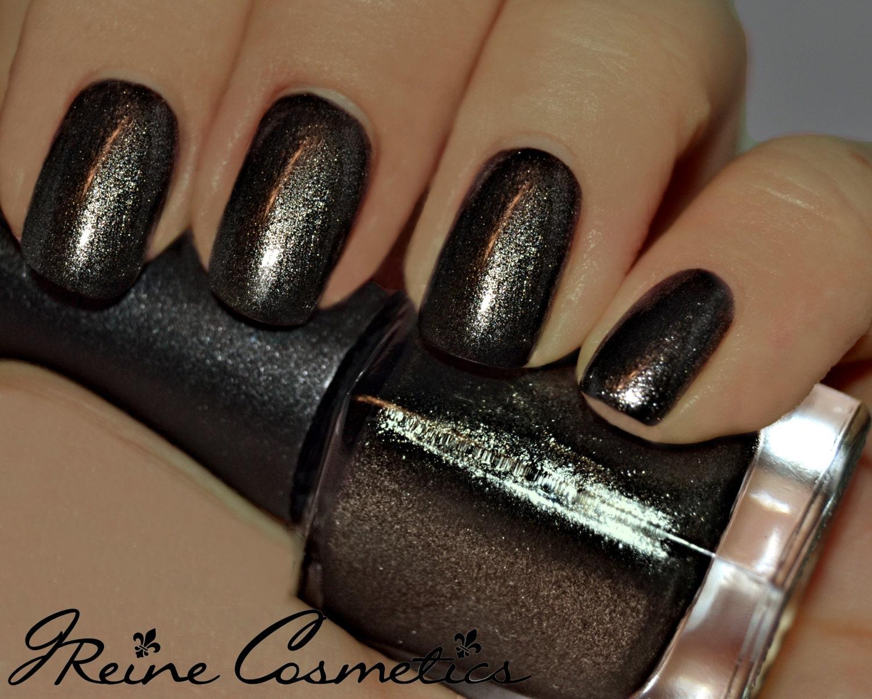 Gunpowder & Lead - Black Metallic Nail Polish from JReineCosmetics ...