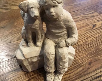 A Boy and His Dog staue