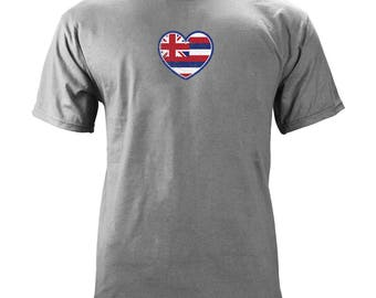 Original Hawaii Heart State Flag T-shirt