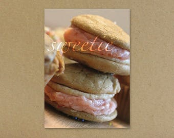 Sweetie, Anniversary Greeting Card, Anniversary Card for Loved One, Feeling Lucky We Found Each Other, Whoopie Pie, 5x7