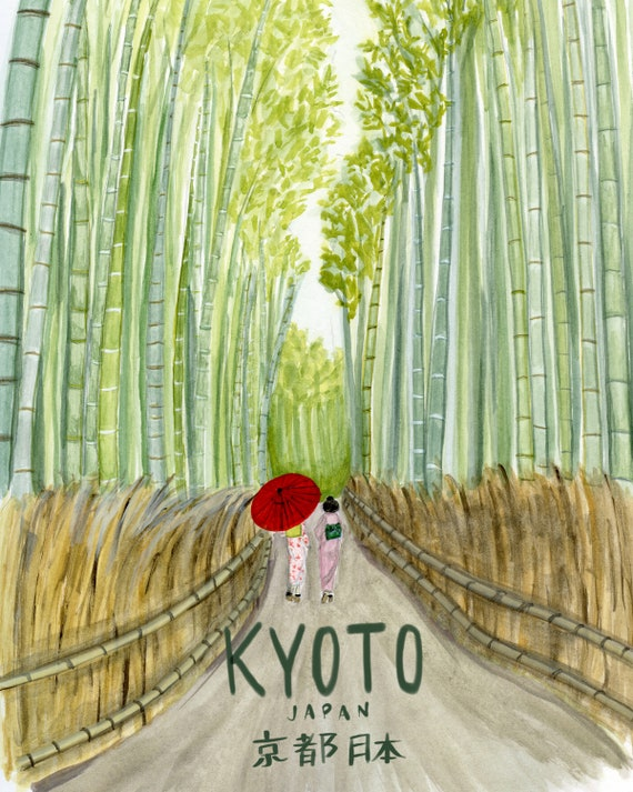 Kyoto, Japan Travel Poster