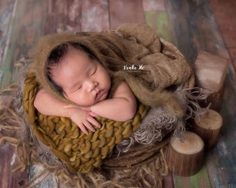 Sonoran brown Thin and thick blanket/brown blanket/mink blanket/bump blanket/Newborn Photography Props/layering blanket/photo prop/preorder