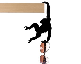 "Balance Hanger // Monkey Shaped Hook Rack // Bag and Key-chain Holder // Home Decor Gift // ""Hold It - Albert the Chimp"" by ArtoriDesign"