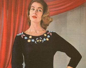 Lavenda Hand Knit 633 Lady's Evening Jumper (Pdf format)