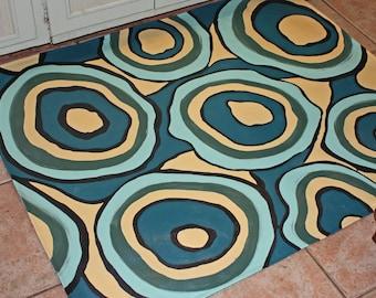 Multi Scream Floor Cloth