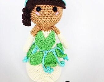 Princess tiana crochet pattern english /dutch
