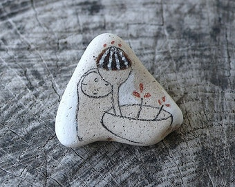 Beach Pottery - Ikebana Jizo, Healing, Meditation, Compassion, Plant, Growing, Pot, Flowers, Silent, Serene, Peaceful, Wabisabi, Simple