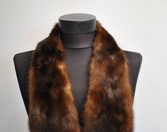 Vintage MINK FUR COLLAR , fur collar .............(044)