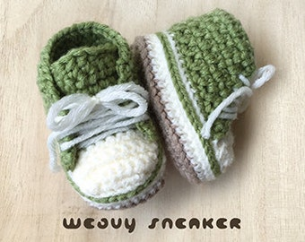 Crochet Pattern Baby Weavy Sneakers Crochet Pattern Baby Unisex Shoes Baby Booties Crochet Pattern Baby Ankle Boots PDF Crochet Pattern