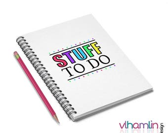 Stuff To Do Notebook - Daily Planner | blog journal to do list