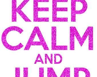 Keep Calm and Jump Rope Iron On Decal