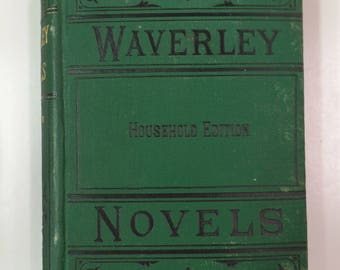 The Waverley Novels: Kenilworth by Sir Walter Scott Porter & Coates Household Edition 1885 Antique Hardcover Book