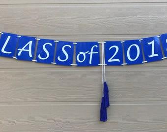 Class of 2018 Graduation Banner, Graduation Decor, 2018 Photo prop with Tassels