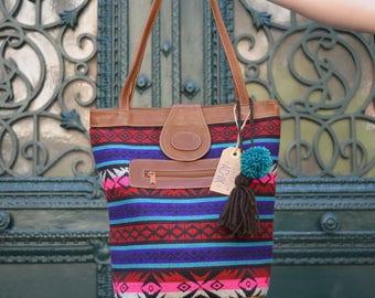 Pink boho bag, Ethnic tote bag, Pink tote bag, Pink ethnic tote bag, Colourful bag, Fuchsia bag