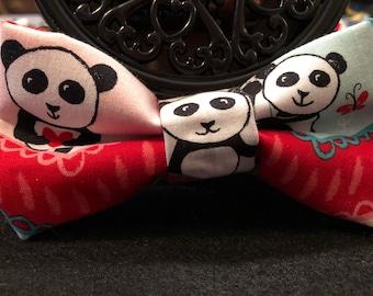 Panda (dog) bow tie