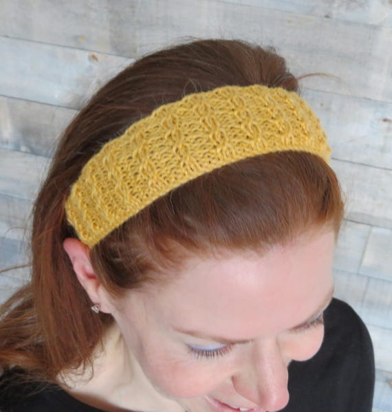 Double Twist Headband Knitting Pattern Easy Knitting Pattern