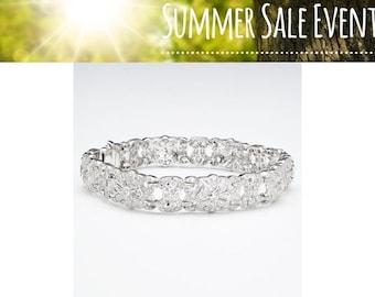 18K Pave Diamond Statement Tennis Bracelet - 1.97 Carat