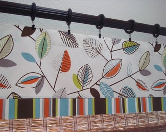 Covington Carson and Cameron Valance Kitchen Curtain Kitchen Valance Modern Valance Unlined