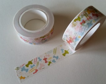 Pastel Pushpins and Paperclips Washi Tape