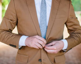 Blue linen tie, linen tie, chambray tie, blue necktie, chambray necktie, chambray skinny tie, wedding necktie, men's tie, custom tie