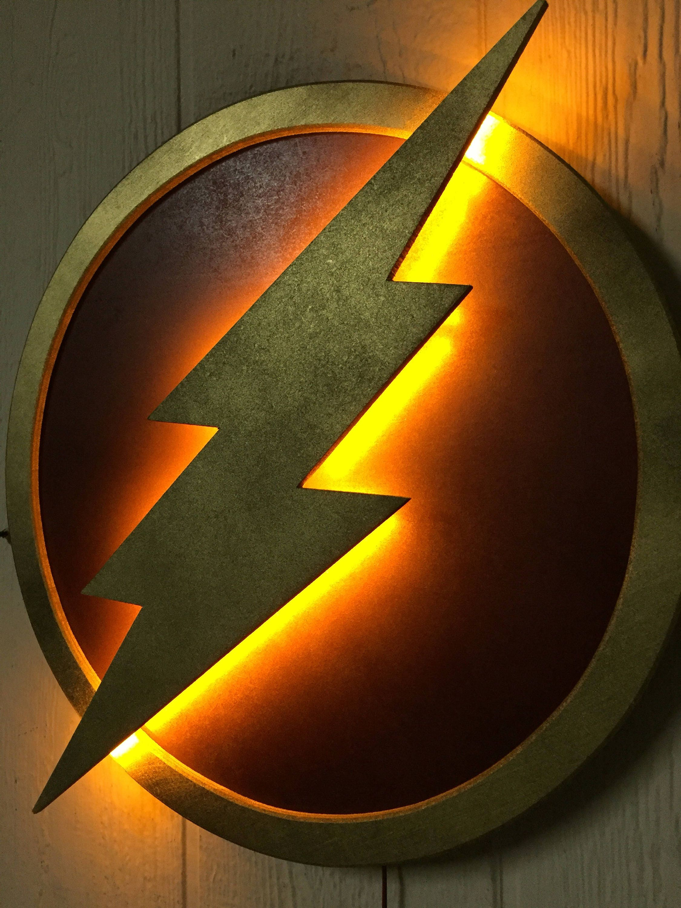 Justice league the flash led illuminated superhero logo night zoom buycottarizona Image collections