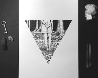 Witchcraft Art Print, Occult Art Print, Wiccan Art print, LOST