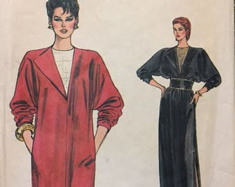 80's Misses' Straight Dress Very Easy Vogue 8593 Sewing Pattern  size 8-12 Bust 30-34 inches  Complete Sewing Pattern