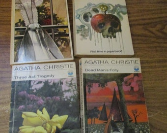 Vintage Agatha Christie Collection of Four Books Fontana Editions 1970s - Poirot and Miss Marple (1970s)