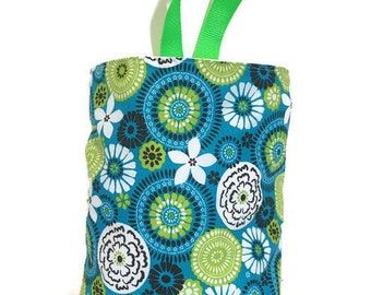 Car Trash Bag//Teal Lime//Waterproof Lining//Car Accessory//Portable Trash Bag//Car Waste Bag//Hanging Trash Bag//Litter Bag for Vehicles