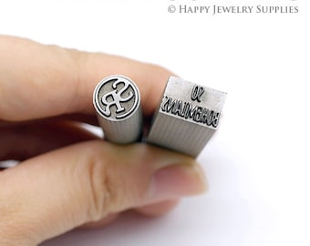 Custom Metal Stamp Quenching Hardness Steel Jewellery Stamp / Personalize Metal Die Jewelry Stamp / Custom Steel Seal Hand Stamp