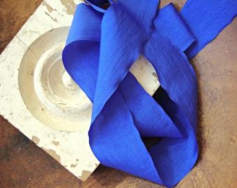 2 Yards - Cobalt Blue Crinkle Ribbon