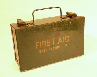 Bell System First Aid Kit, Telephone Collectors, Medical supplies Collectors, circa 1960s