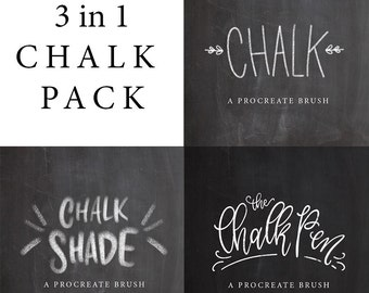 Chalk Brush Bundle - Procreate Lettering Brushes by Printable Haven made for the iPad Pro and Apple Pencil.