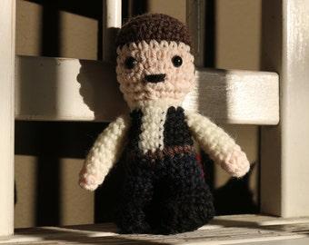 Star Wars Han Solo Amigurumi,  hand crocheted