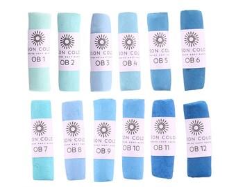 Unison Artist Quality Soft Pastels - Ocean Blue 1 - 12
