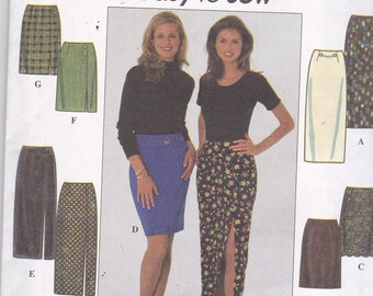 Simplicity 7881 Vintage Pattern Womens  Straight Skirts in 4 Variations Size 6,8,10 UNCUT
