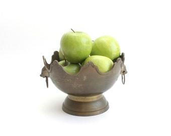 Brass Fuit Bowl, Decorative Bowl, Centerpiece