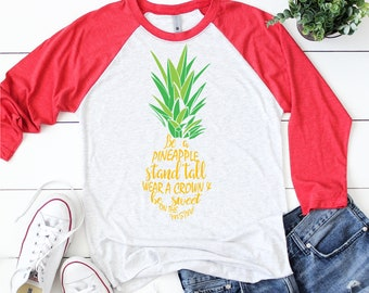 Be a Pineapple SVG, Pineapple svg, Digital download pineapple, Pineapple silhouette, Pineapple shirt, Cut Files for Silhouette and Cricut