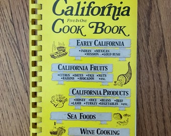 Vintage 1976 California Recipes Cookbook