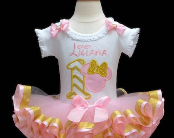 1st birthday girl outfit pink and gold 1st birthday outfit baby girl 1st birthday tutu outfit princess birthday cake smash outfit