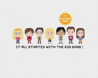 Big Bang Theory Cross Stitch Pattern - PDF Download pattern - The Big Bang Theory  Cross-stitch - Sheldon Cooper