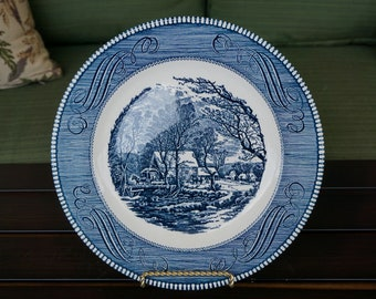 Vintage Currier and Ives The Old Grist Mill Plate